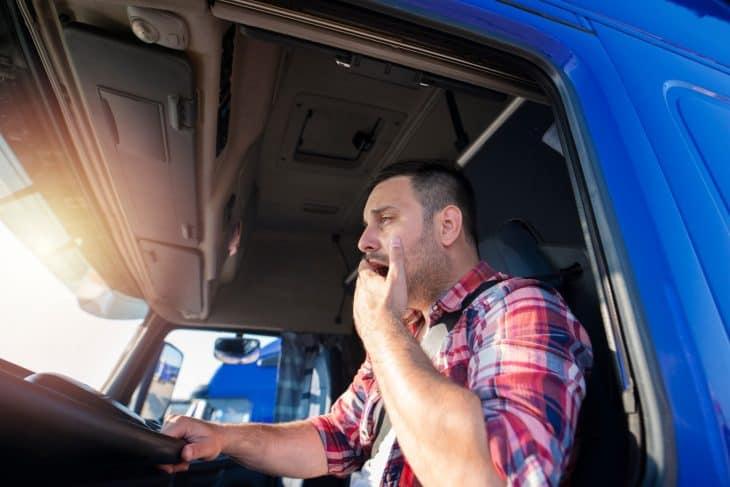 Driver yawning